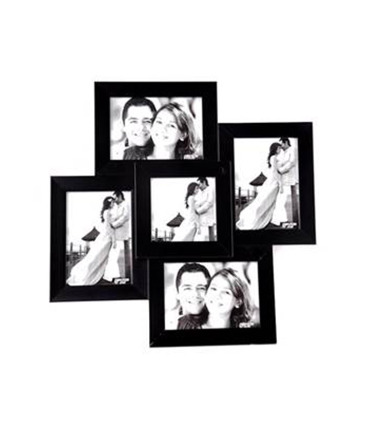Black Collage Photo Frame For 5 Pictures at 399 on Pepperfry : Best ...